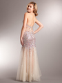 AC227 Sparkling Chic Evening Dress - Rose, Back View Thumbnail