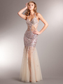 AC227 Sparkling Chic Evening Dress - Rose, Alt View Thumbnail