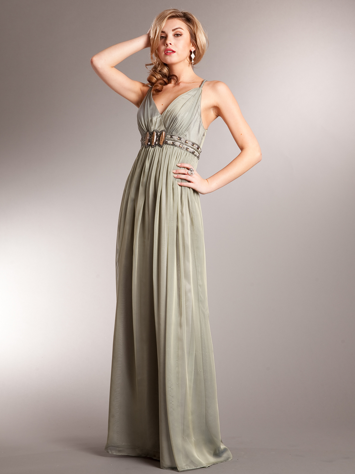 Grecian Goddess Halter Evening Dress | Sung Boutique L.A.