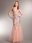 A Night to Remember Sequin Embellished Prom Gown