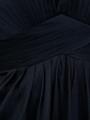 AC304 Pleated Strapless Evening Dress - Black, Alt View Thumbnail