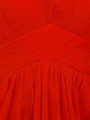 AC304 Pleated Strapless Evening Dress - Red, Alt View Thumbnail