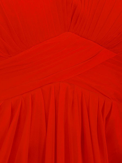 AC304 Pleated Strapless Evening Dress - Red, Alt View Medium