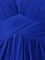 AC304 Pleated Strapless Evening Dress - Royal Blue, Alt View Thumbnail