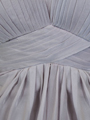 AC304 Pleated Strapless Evening Dress - Silver, Alt View Thumbnail