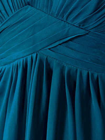 AC304 Pleated Strapless Evening Dress - Teal, Alt View Medium