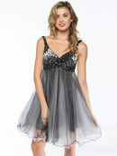Sequin Bodice Baby Doll Party Dress