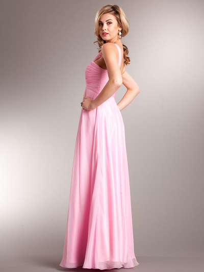 AC622 Contemporary Evening Dress - Light Pink, Back View Medium