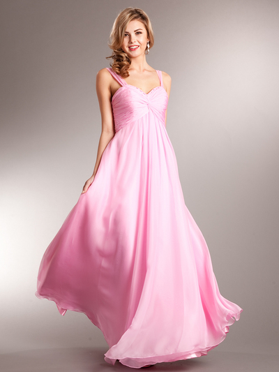 AC622 Contemporary Evening Dress - Light Pink, Front View Medium