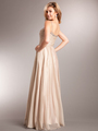 AC624 Glitz and Glamour Prom Dress - Champagne, Back View Thumbnail