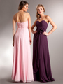 AC626 Chiffon Special Occasion Dress - Blush, Back View Thumbnail