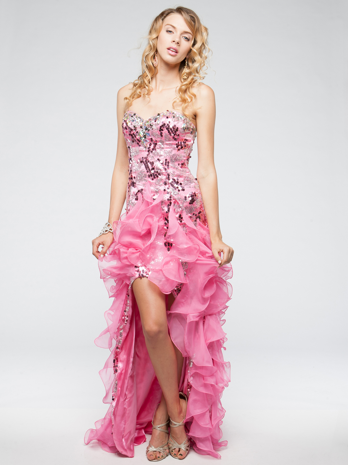 Ruffled Skirt High-low Prom Dress | Sung Boutique L.A.