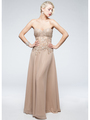 AC711 Sweetheart Evening Dress - Champagne, Alt View Thumbnail