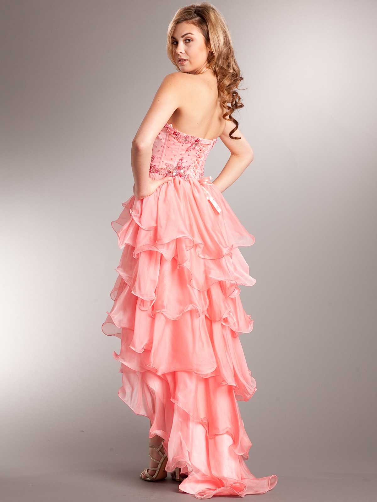 Corset Top High-low Prom Dress | Sung Boutique L.A.