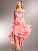 Corset Top High-low Prom Dress