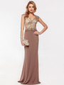 AC733 Jeweled Embroidery Evening Dress