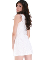 BA793 Lace Day and Night Cocktail Dress - White, Back View Thumbnail