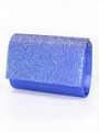 C033 Rhinestone Studded Face Evening Clutch - Royal Blue, Front View Thumbnail