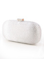 C039 Sparkling Oval Hard Shell Evening Clutch