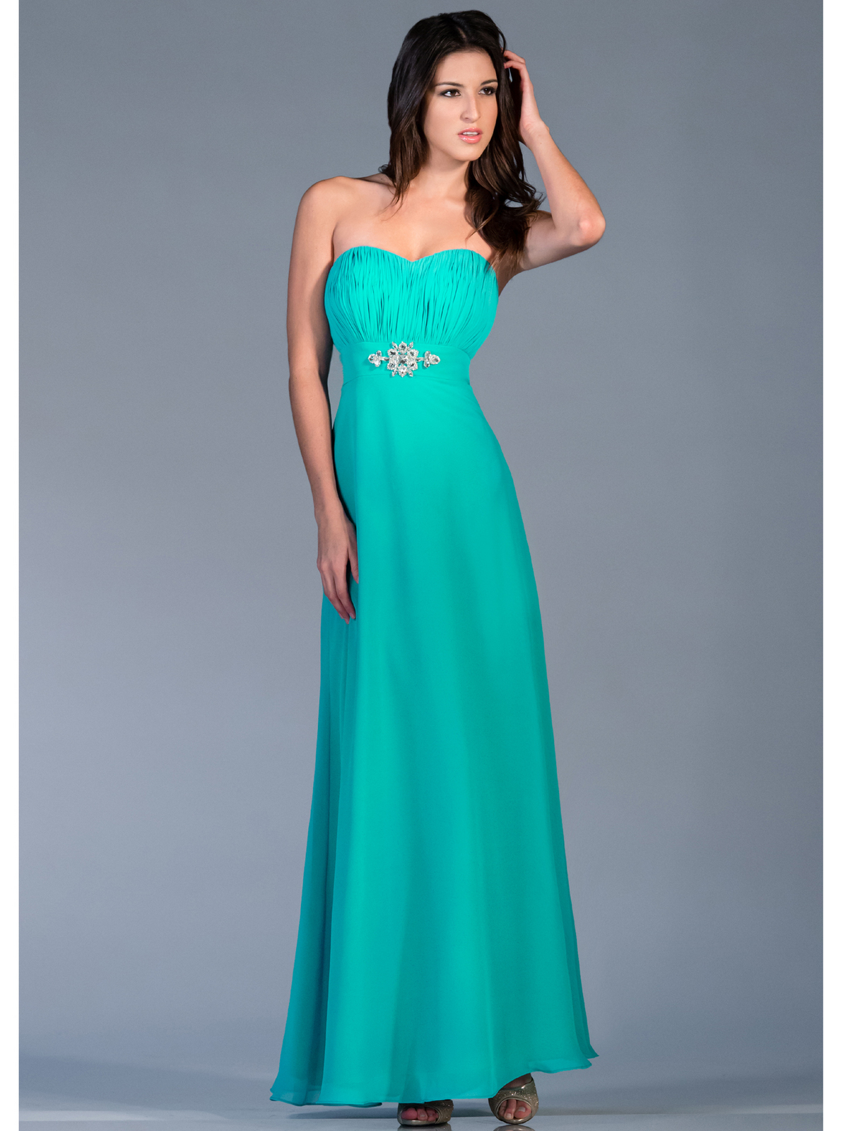 Strapless Chiffon Evening Dress | Sung Boutique L.A.