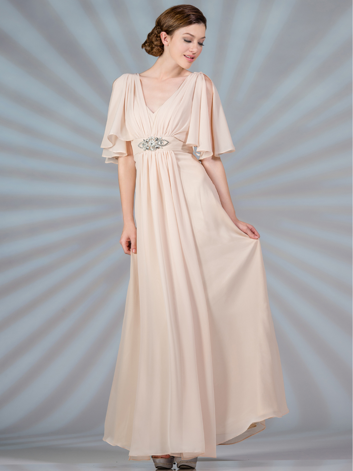 Flutter Sleeve Mother Of The Bride Dresses Sung Boutique