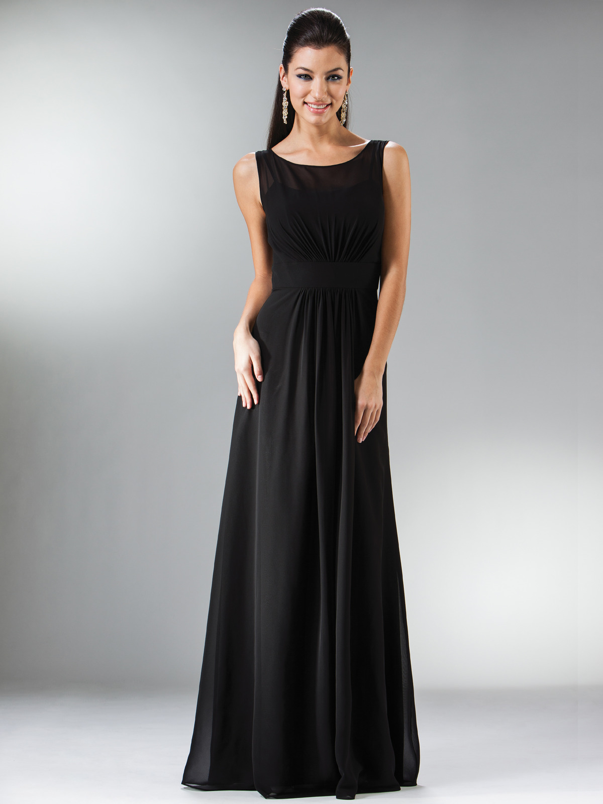 68434d2facb5e C1465 Black Tie Affair Sleeveless Evening Dress - Black