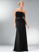 Strapless Wrap Waist Evening Dress