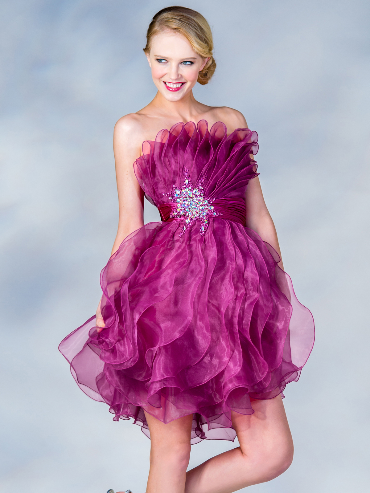 Ruffle Prom Dress Sung Boutique L A