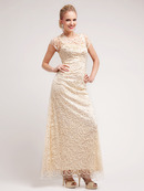 Lace Embroidery Evening Dress