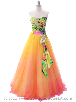 C60 Yellow Prom Gown, Yellow