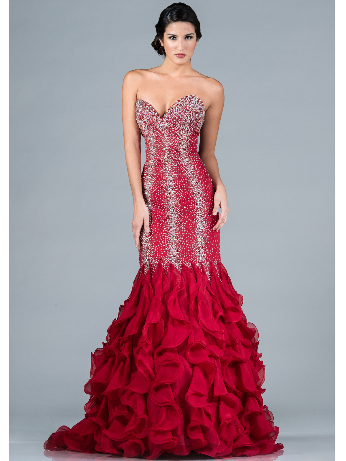 Beaded and Jeweled Mermaid Prom Dress | Sung Boutique L.A.