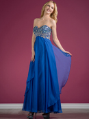 Jeweled and Beaded Sweetheart Prom Dress