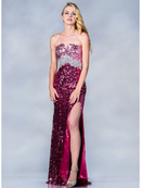 Dazzling Dual Color Sequin Prom Dress