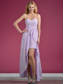 C7751B Sweetheart High-Low Cocktail Dress - Lilac, Front View Thumbnail
