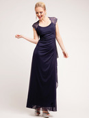 Sweeping Empire Evening Dress