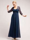 Three Quarter Sleeve Evening Dress