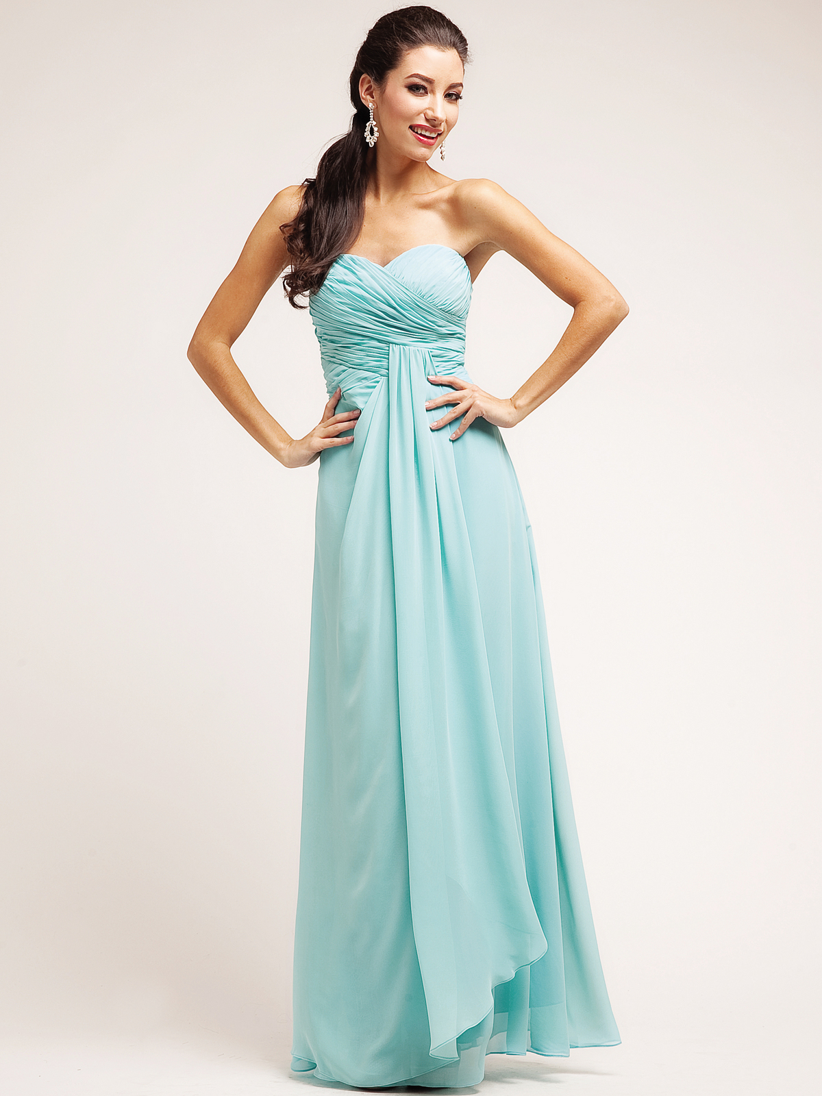 Strapless Sweetheart Wrap Top Formal Dress | Sung Boutique L.A.
