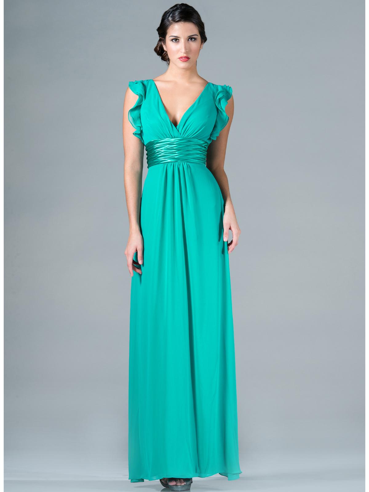 Satin Empire-Waist Evening Dress | Sung Boutique L.A.