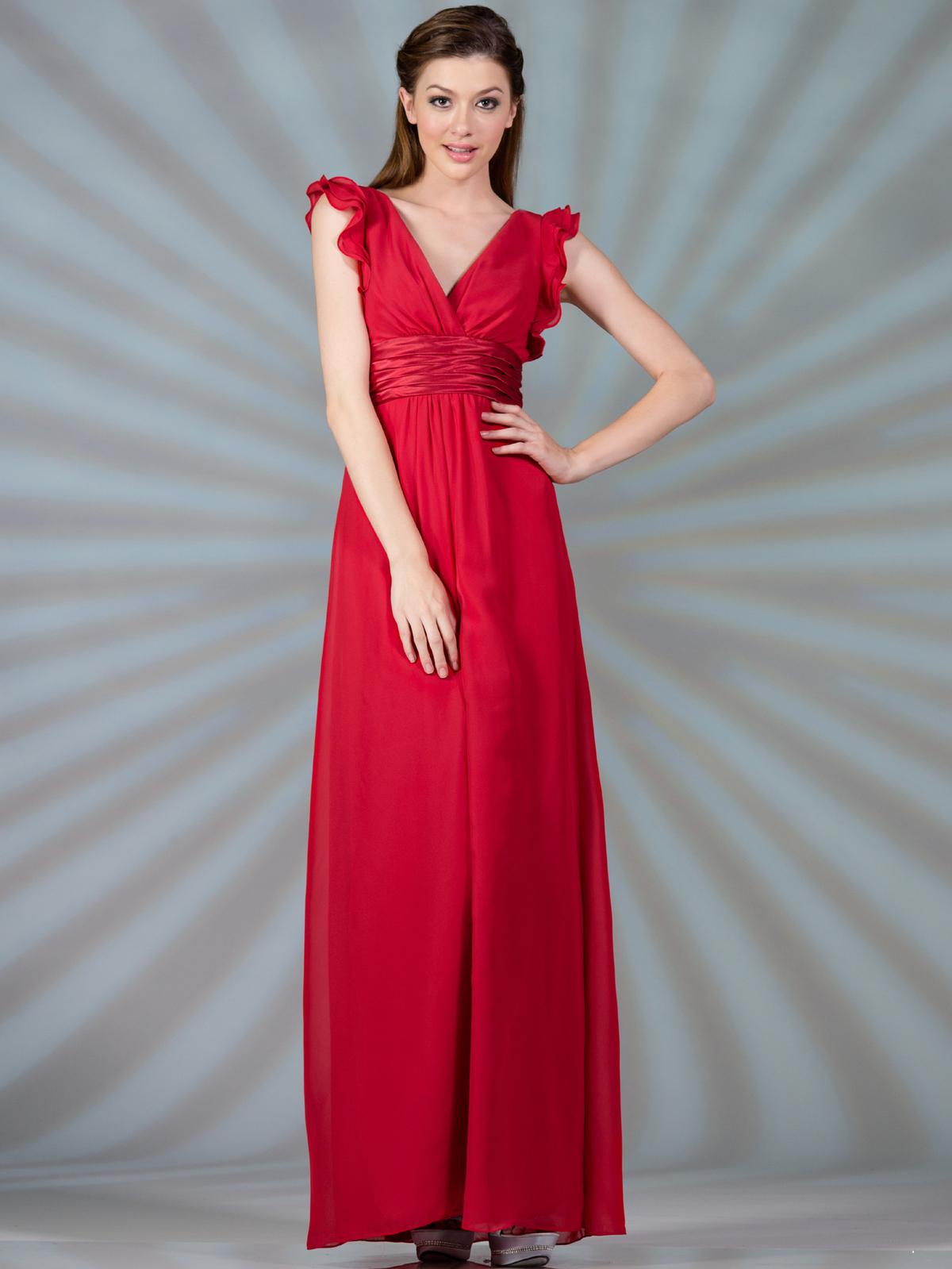 Satin Empire-Waist Evening Dress - Sung Boutique L.A.