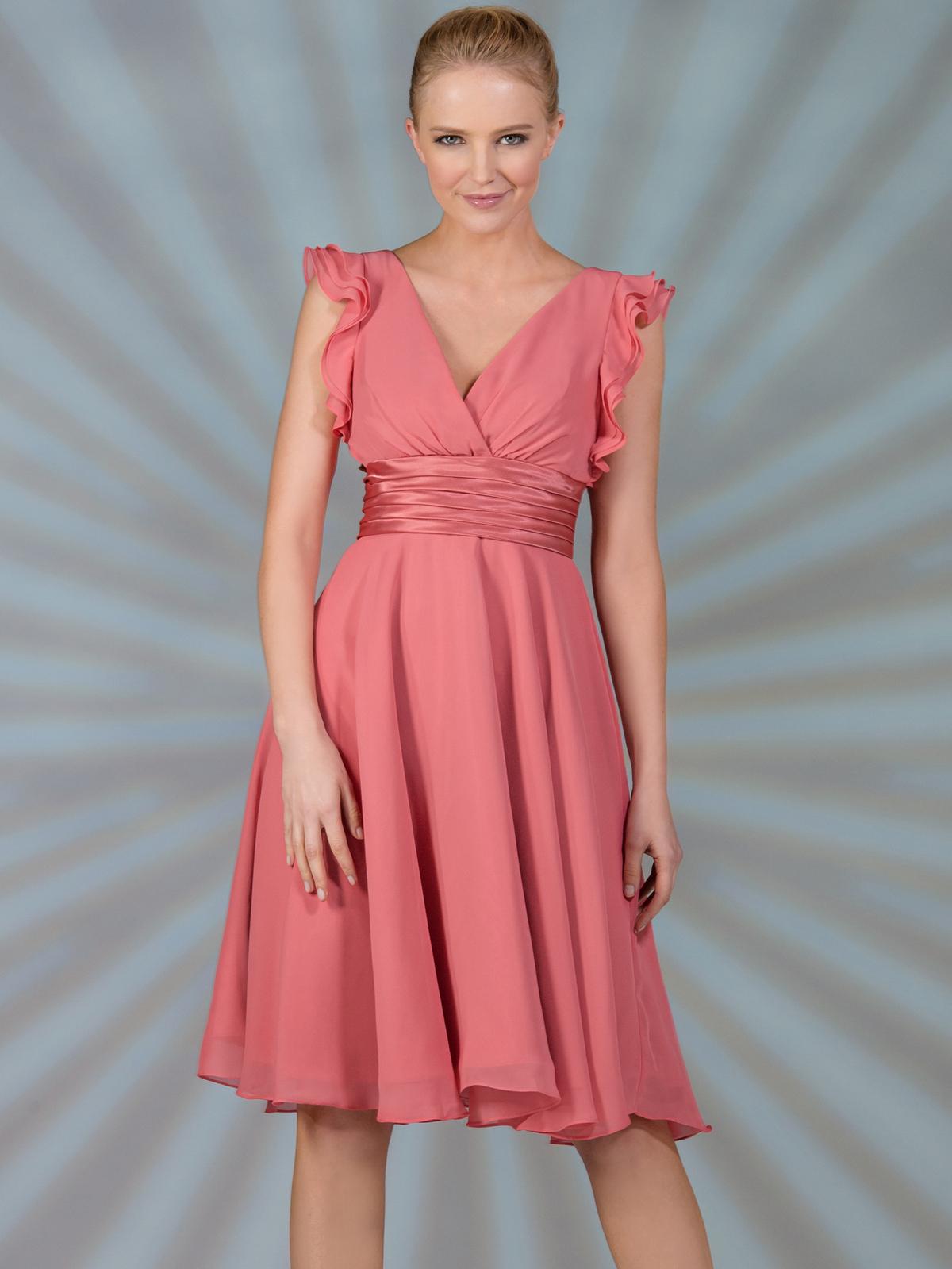 Cocktail dress flutter sleeve