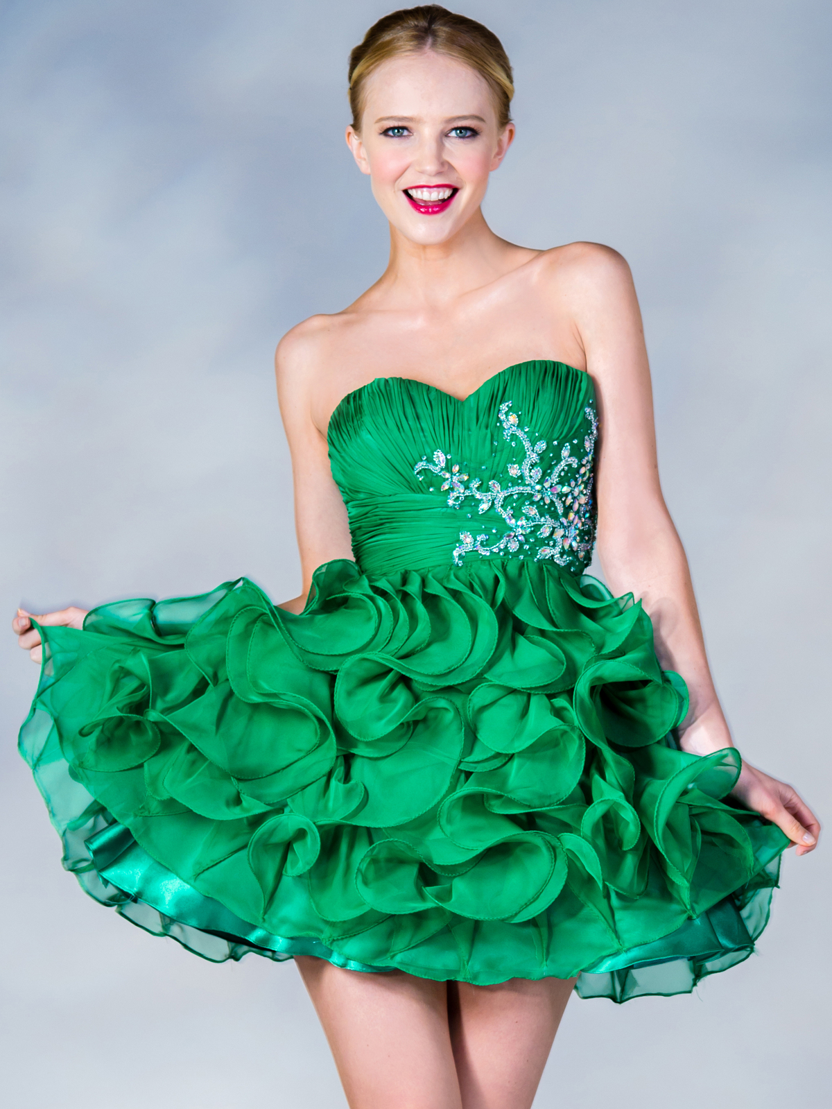 Short Ruffled Prom Dress | Sung Boutique L.A.