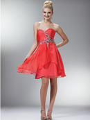 Strapless Sweetheart Chiffon Homecoming Dress