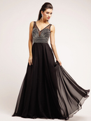 Sheer Sweetheart Crystal Bodice Evening Dress