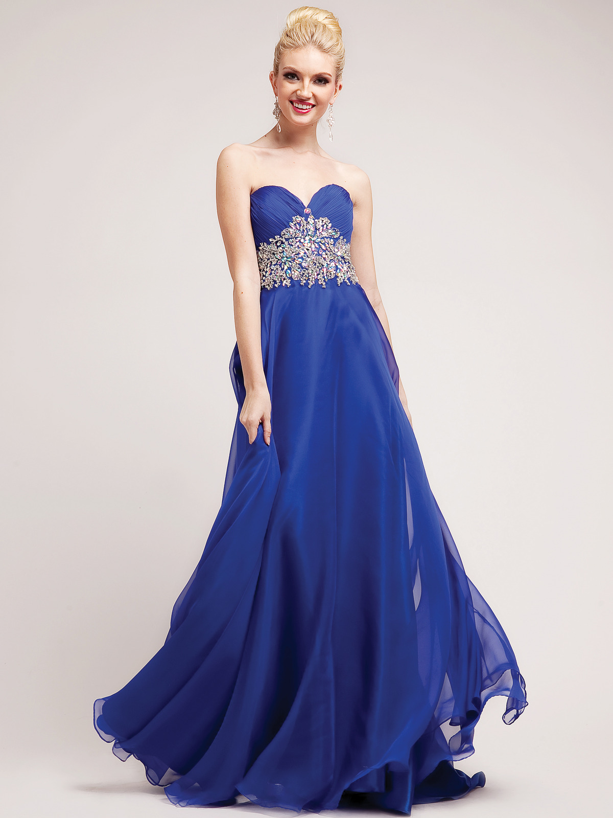 Embellished Sweetheart Empire Waist Prom Dress - Sung Boutique L.A.