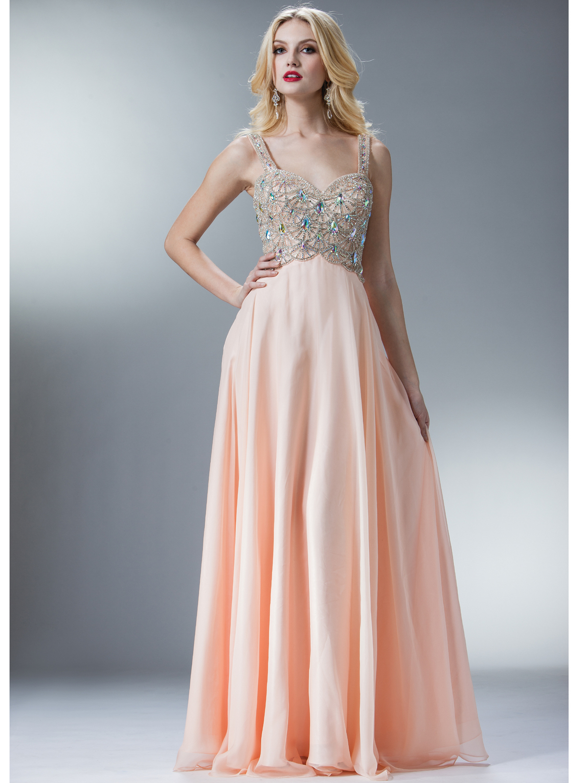 Blush A-line Chiffon Prom Dress | Sung Boutique L.A.