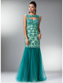 Vintage Mermaid Prom Gown