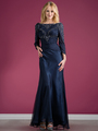 C7995 Long Sleeve Beaded Evening Dress