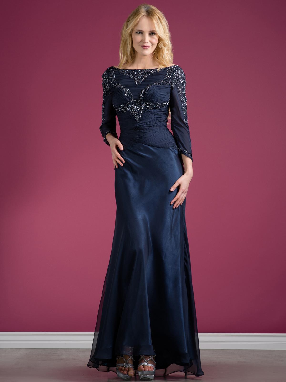 Long Sleeve Beaded Evening Dress Sung Boutique L A