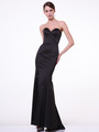 C8792 Strapless Sweetheart Mermaid Gown - Black, Front View Thumbnail