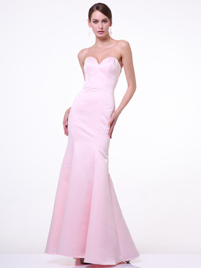 C8792 Strapless Sweetheart Mermaid Gown - Blush, Front View Medium